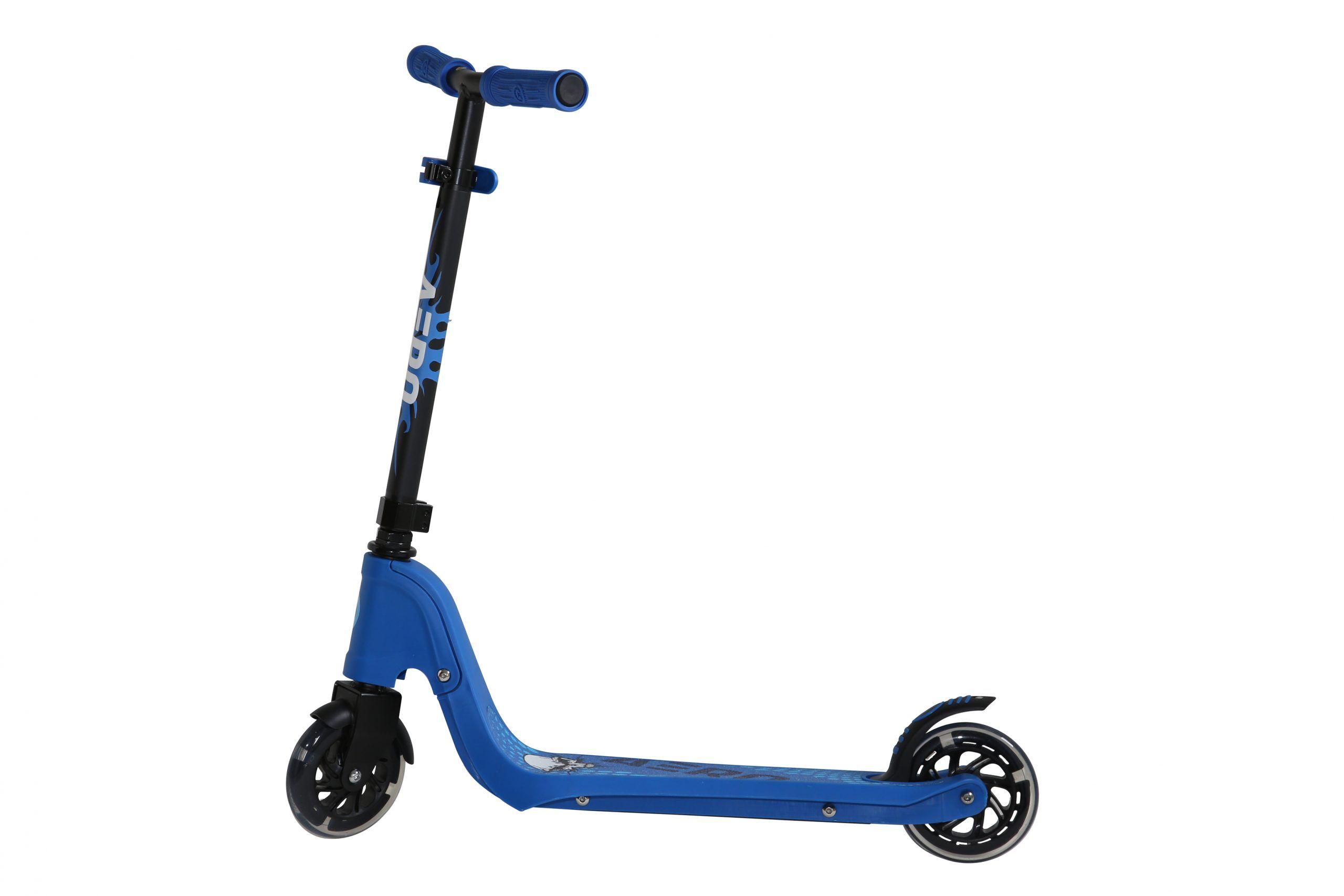 odg monopattino bambini aero c1 struttura in acciaio rosa o blu e altezza regolabile blu