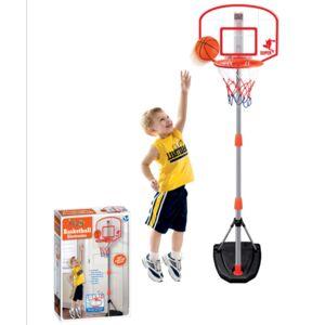 ODG Canestro Basket Piantana E Tabellone Regolabile Segnapunti Elettronico E Palla