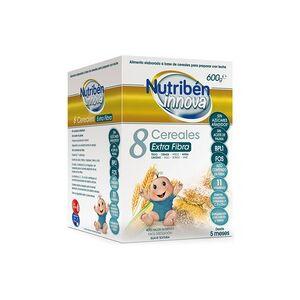 Nutriben Porridge Innova 8 Cereali Extra Fibre 600 g di polvere