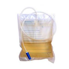 farmacare srl sacca da letto per raccolta urina da 2 litri senza scarico tubo 130cm 30 pezzi