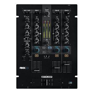 Reloop RMX-33i - Mixer DJ Scratch / Battle con 3 + 1 Canali e Effetti Colorati Sonori Integrati - EQ a 3 Bande (Kill/Classic) e Compatibilit Innofader per DVS, iPad e Android (Nero)