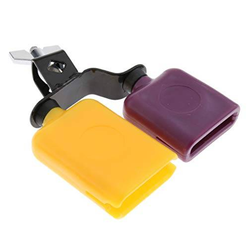 b blesiya cowbell giallo + viola latin percussion drum set kit cowbell kettlebell