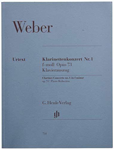 weber klarinettenkonzert nr. 1 f-moll op. 73 [lingua tedesca]