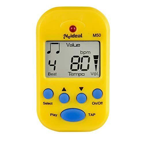 lepeuxi metronomo professionale metronomo lcd digitale metronomo m50 per accessori per strumenti musicali mini piano metronomo per chitarra