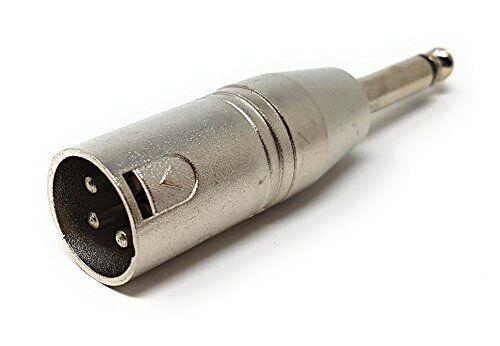 maincore 3pin xlr maschio a 6,35 mm 1/4 maschio mono jack adattatore/convertitore/estensore per microfono, mixer, amp, cavo chitarra (disponibile in mono e stereo) (mono)
