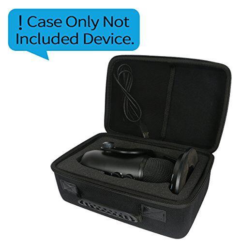 khanka - custodia rigida da viaggio per microfono usb blue yeti, filtro antisoffio e antipop, logitech c920 hd pro webcam small
