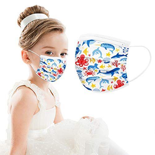 generale bambino cartoni animati mascherine per viso maschera monouso con orecchio maschere civili traspiranti e confortevoli 3 strati per prevenire polvere e gocce nell'aria 30 pc