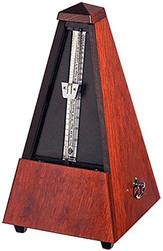 wittner - metronomo di maelzel, a piramide, cassa in legno, con campana