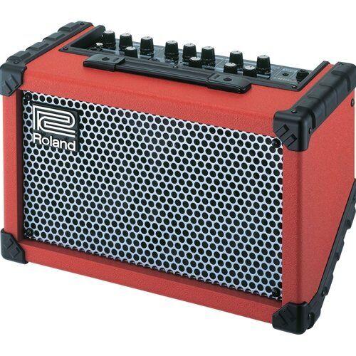 roland cubo di roland strada alimentato a batteria amplificatore stereo (rosso)