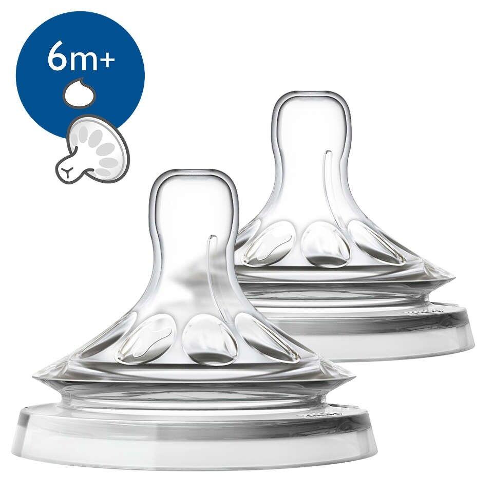 Philips Spa Avent 2 Tettarelle Natural Per Liquidi Densi Fessura A Y