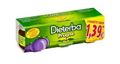 Dieterba (Heinz Italia Spa) Dieterba Omogeneizzato Prugna 3 Pezzi 80 G
