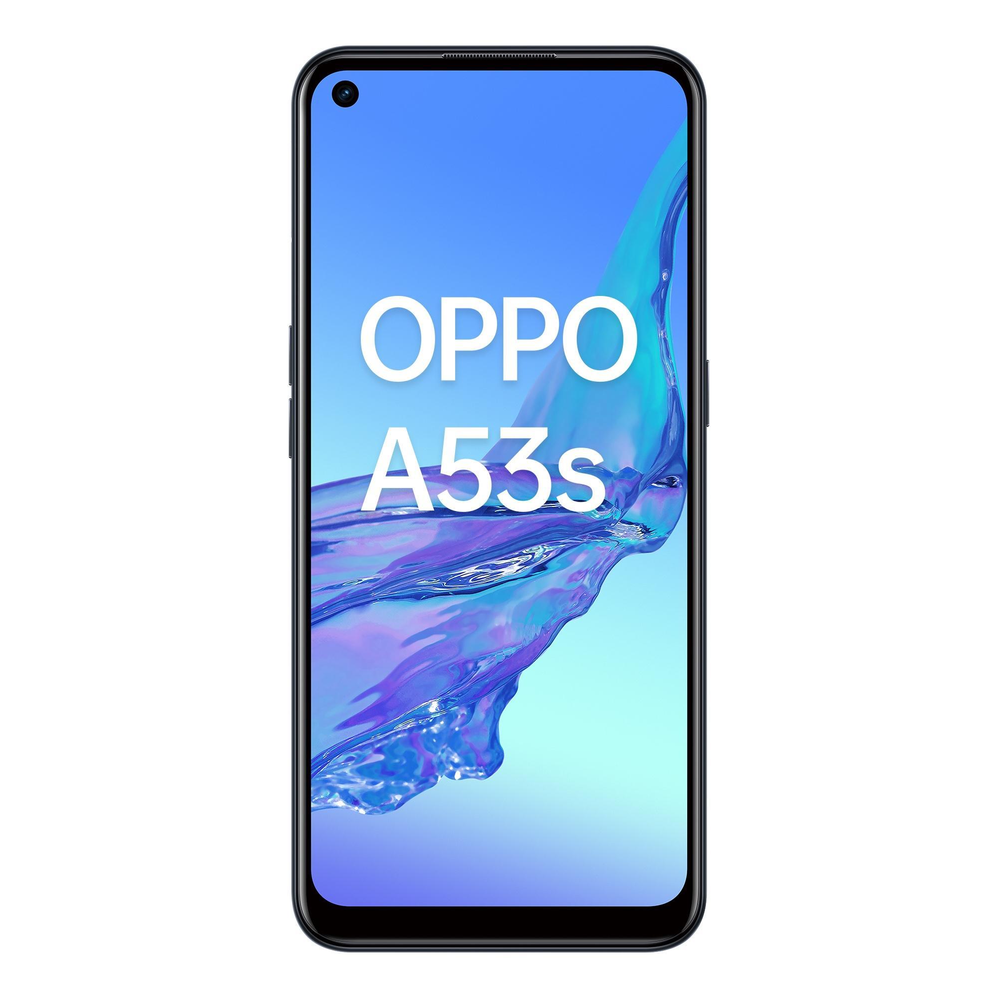 "Oppo A53s Smartphone, 186g, Display 6.5"" HD+ LCD, 3 Fotocamere 13MP, RAM 4GB + ROM 128GB Espandibile, Batteria 5000mAh, Ricarica Rapida, Dual Sim, [Versione Italiana], Electric Black"