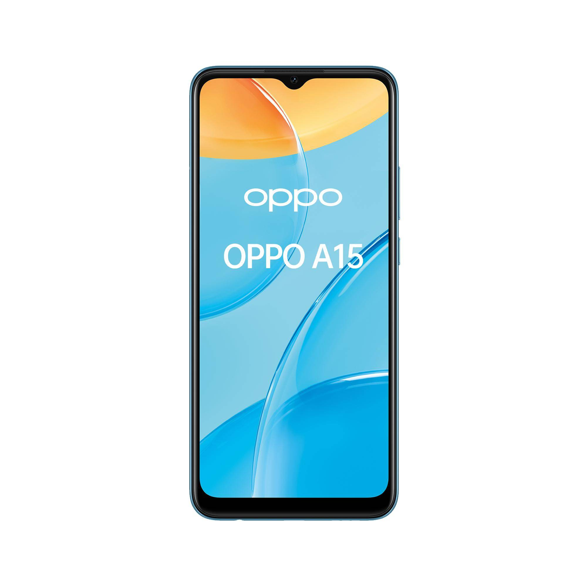"Oppo A15 Smartphone, 179g, Display 6.52"" HD+ LCD, 3 Fotocamere 13MP, RAM 3GB + ROM 32GB Espandibile, Batteria 4230mAh, Ricarica Rapida, Dual Sim, [Versione Italiana], Mistery Blue"