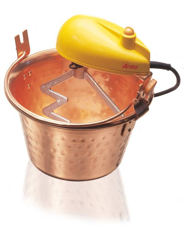 Ardes 2480 macchina per polenta 28 cm Rame