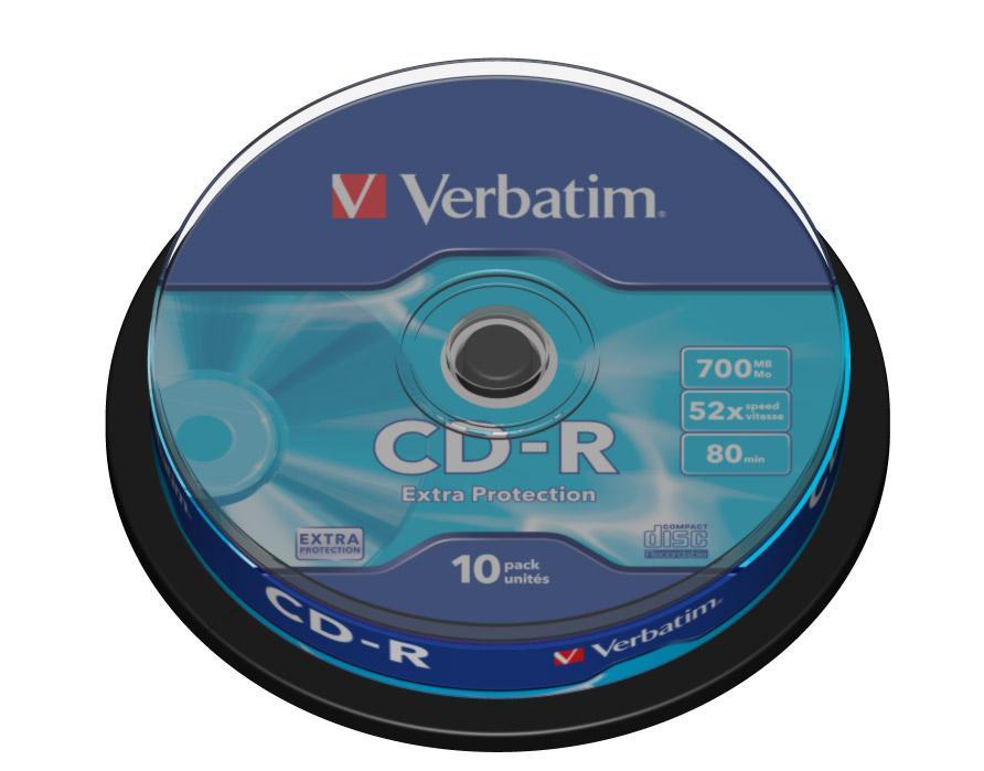 Verbatim CD-R Extra Protection 700 MB 10 pezzo(i)