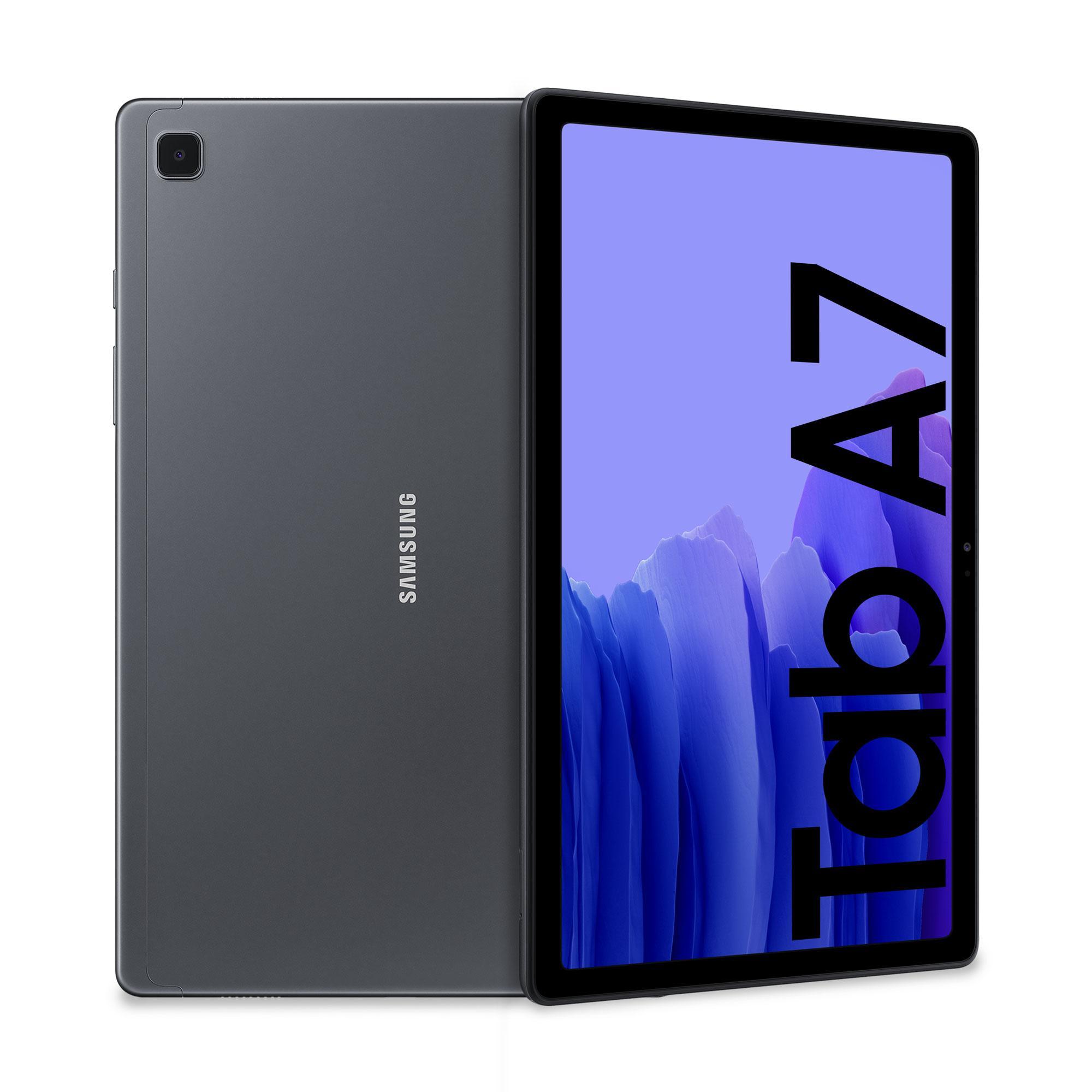 "Samsung Galaxy Tab A7 Tablet, Display 10.4"" TFT, 32GB Espandibili fino a 1TB, RAM 3GB, Batteria 7.040 mAh, LTE, Android 10, Fotocamera posteriore 8 MP, Dark Gray"