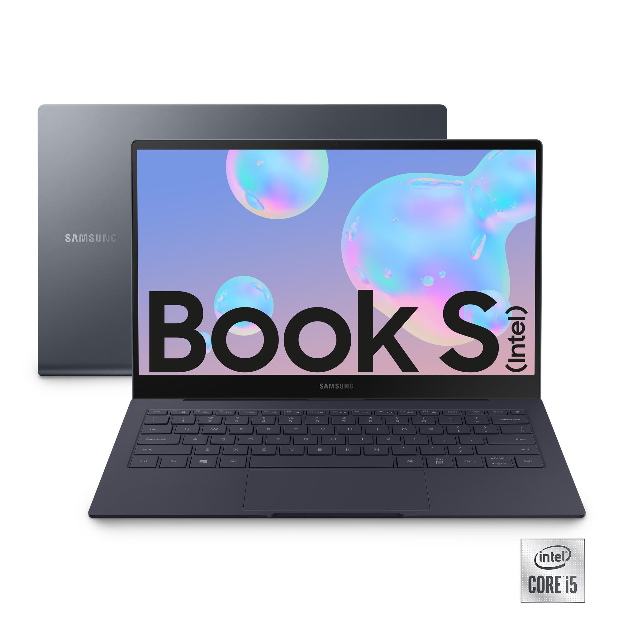 """Samsung Galaxy Book S (Intel) 13,3"""" Mercury Gray Touch Screen Intel® Core™ i5 Windows 10 Home Wi-Fi 6 RAM 8GB Memoria 512GB Batteria 42Wh Lettore impronte digitali"""