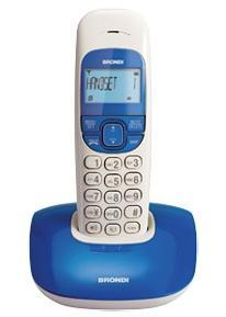 Brondi Nice Telefono DECT Identificatore di chiamata Blu, Bianco