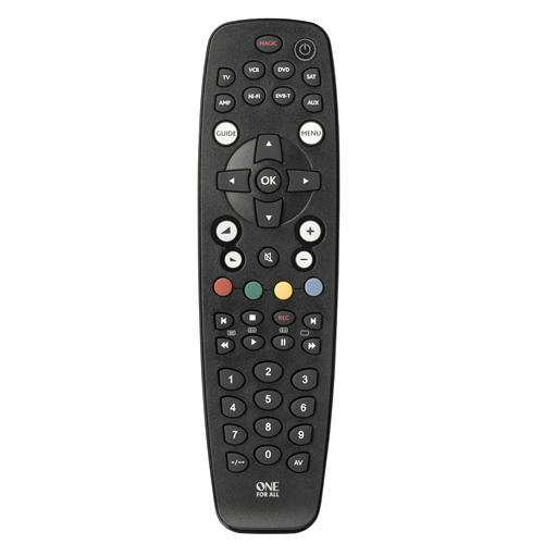 ONE FOR ALL URC 2981 telecomando IR Wireless Audio, AUX1, DVD/Blu-ray, SAT, TV, VCR Pulsanti