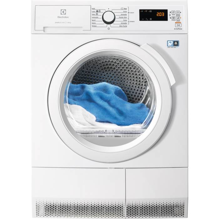 Electrolux EDH4084GOW asciugatrice Libera installazione Caricamento frontale 8 kg A++ Bianco