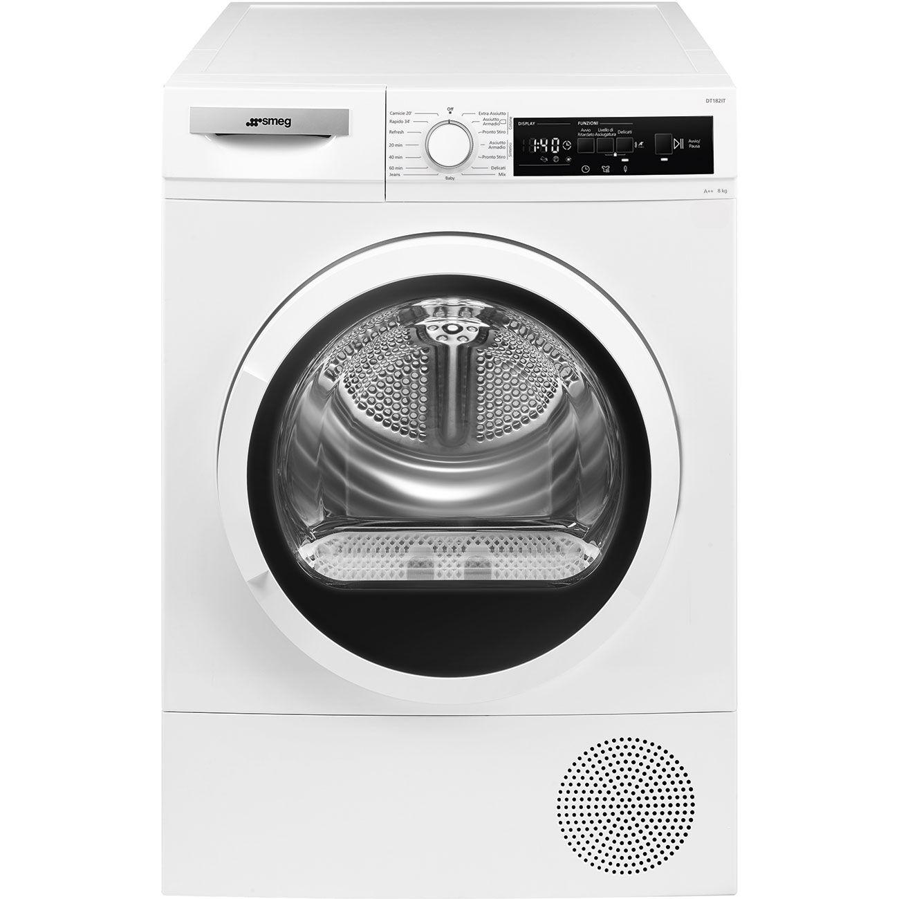 SMEG DT182IT asciugatrice Libera installazione Caricamento frontale 8 kg A++ Bianco