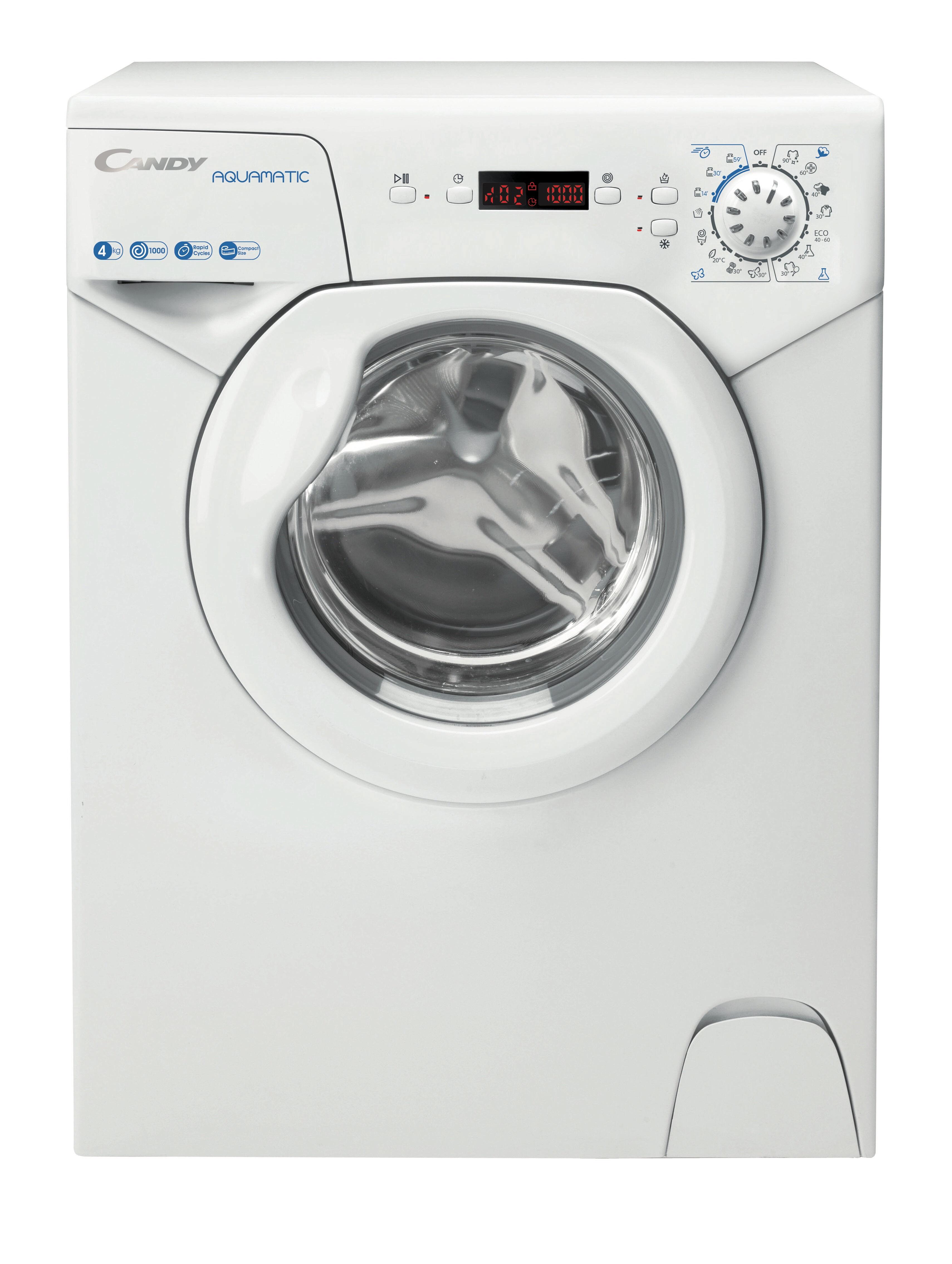 Candy AQUA 1042DE/2-S lavatrice Libera installazione Caricamento frontale 4 kg 1000 Giri/min F Bianco