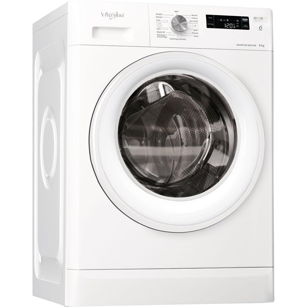 Whirlpool FFS P8 IT lavatrice Libera installazione Caricamento frontale 8 kg 1200 Giri/min C Bianco