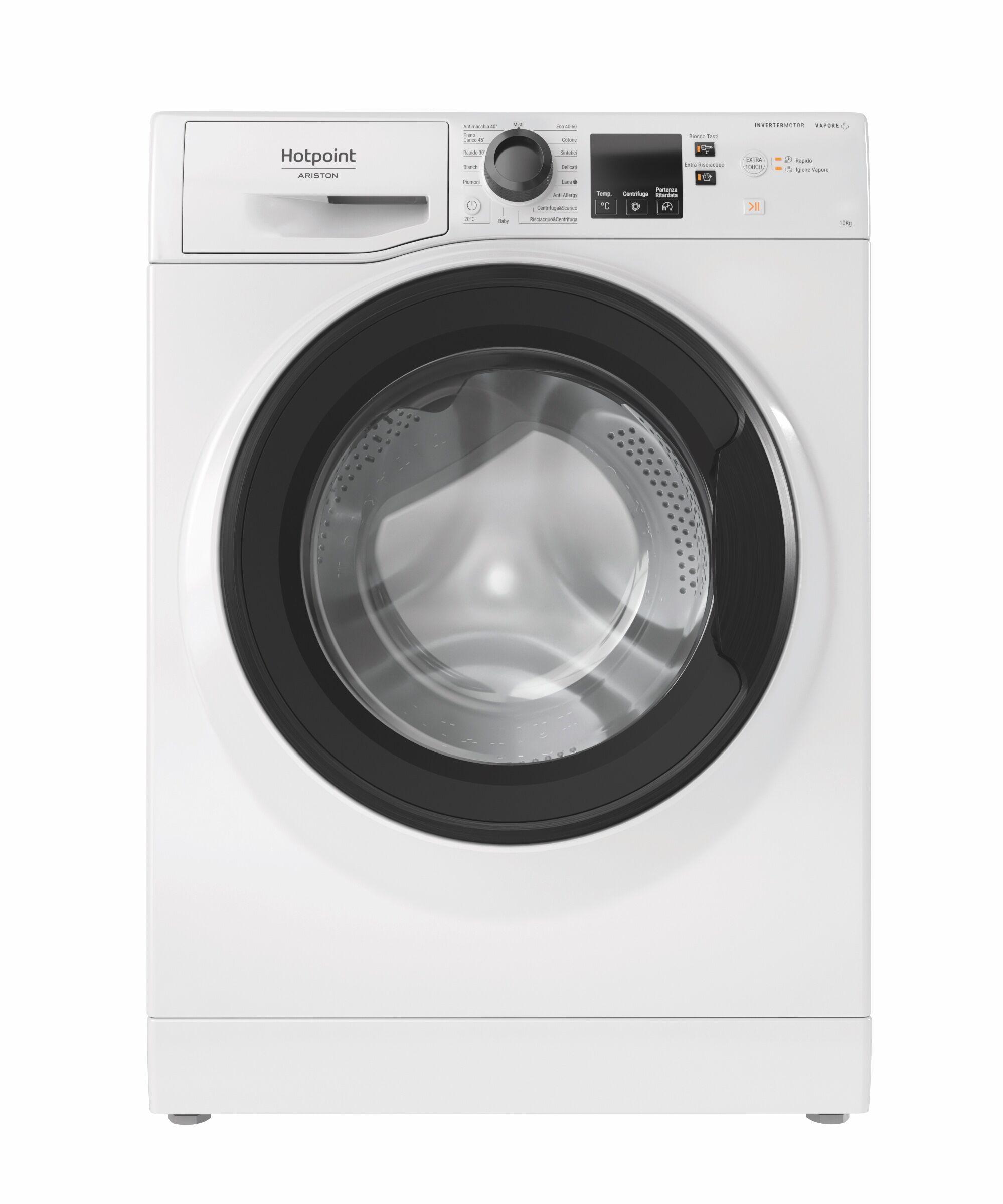 Ariston Hotpoint NF1044WK IT lavatrice Libera installazione Caricamento frontale 10 kg 1400 Giri/min C Bianco
