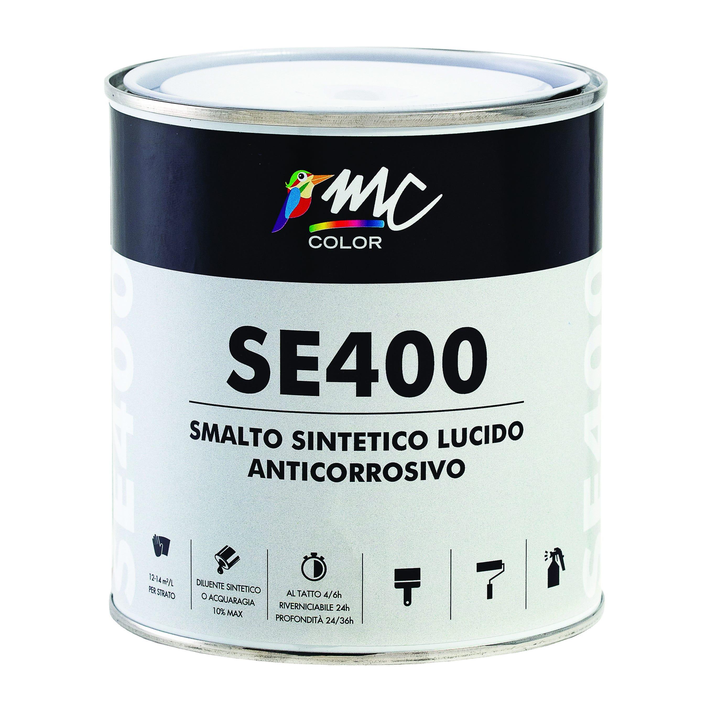 smalto sintetico lucido mccolor verde prato 0,75 l antiruggine 12-14 m² con 1 l