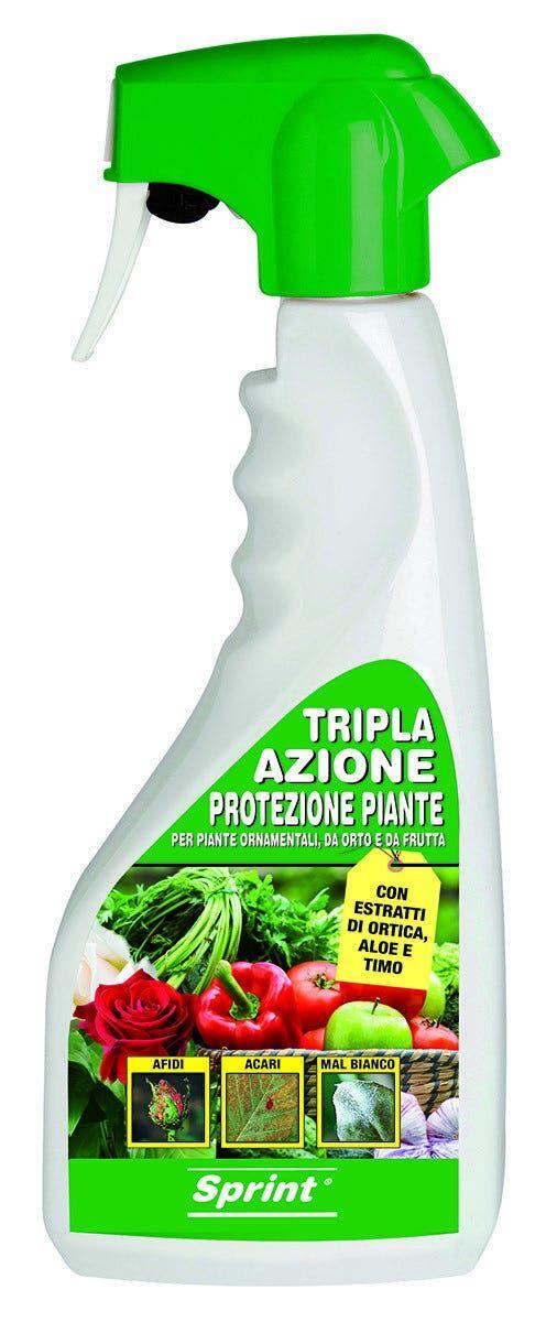 liquido protezione piante sprint tripla azione protegge da malattie afidi e acari 500 ml
