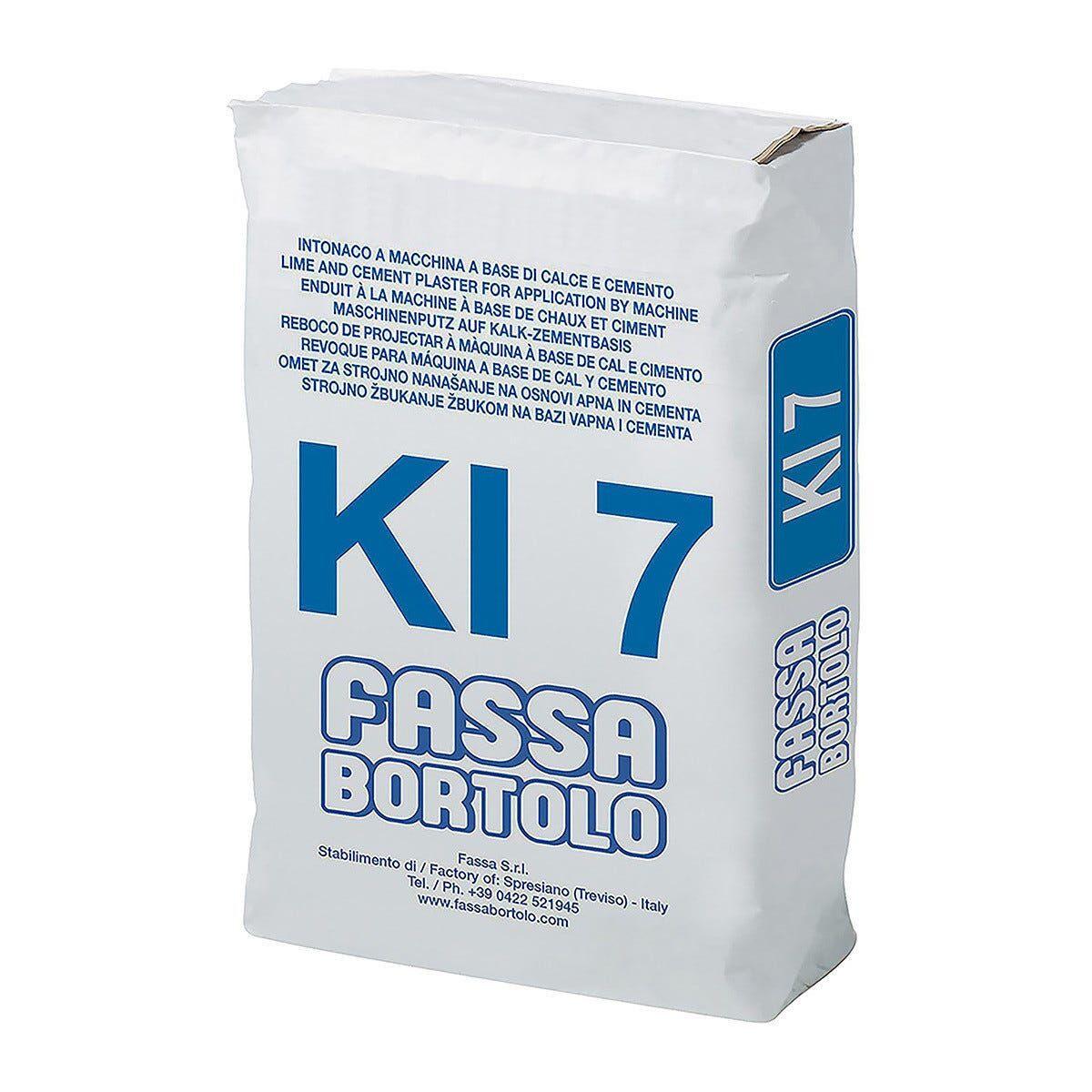 intonaco fibrato idrofugato ki7 fassa 25 kg