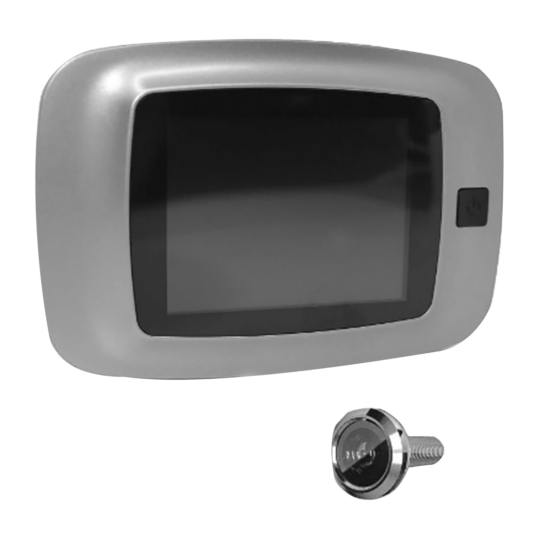 proxe spioncino digitale  silver pannello lcd 3,2'' tft telecamera 0,3 mpx a batterie