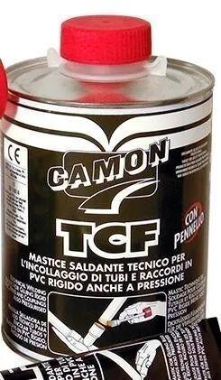 adesivo saldante pvc tcf/camon 1000 g per tubi e raccordi pvc trasparente