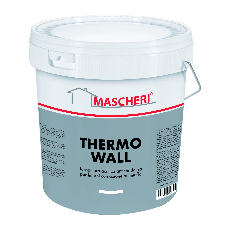 idropittura termoisolante mascheri 14 l thermo wall fonoassorbente 3-4 m² con 1 l  a 2 mani