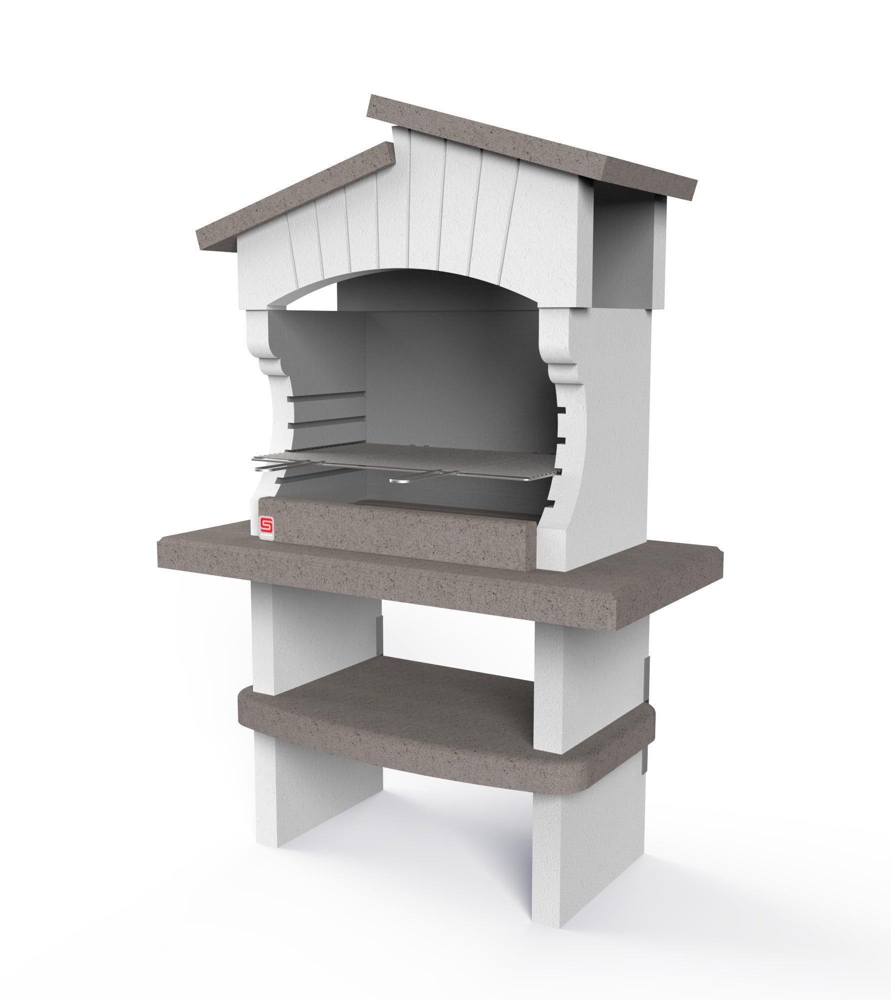 barbecue bogota' 125x64x184 cm 408 kg legna e carbonella griglia 77x40 cm