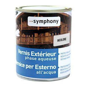 Vernice Legno Esterno Ad Acqua Symphony 1 L Incolore Pronto Uso 12 M² Con 1 L