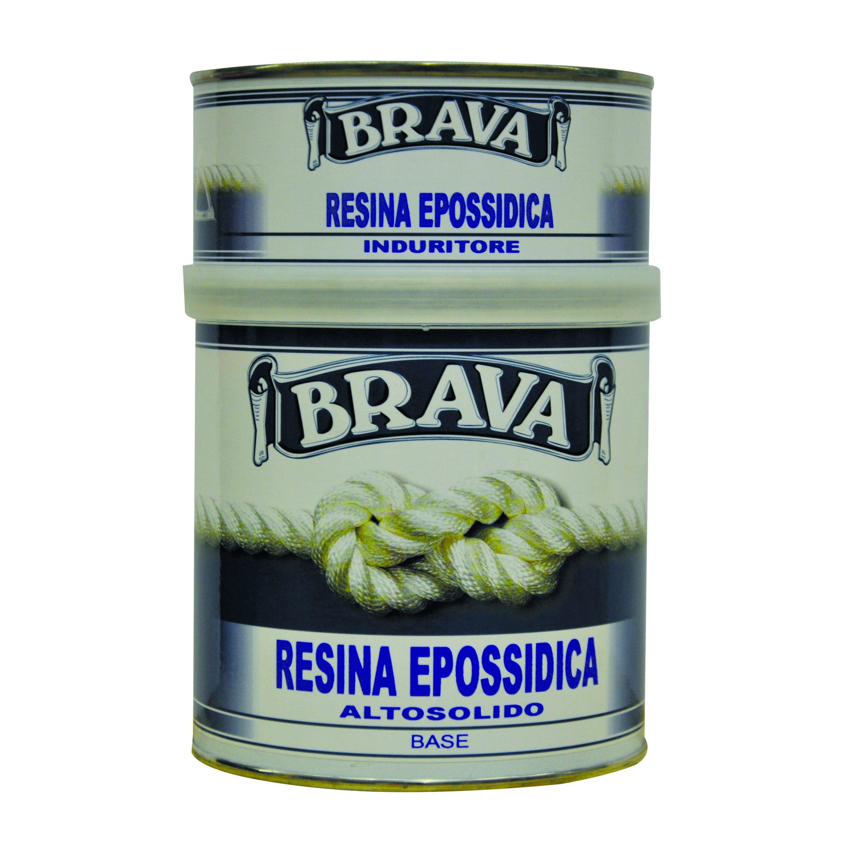 BRAVA Resina Epossidica 2,5 L Multiuso 12 M² Con 1 L Da Diluire