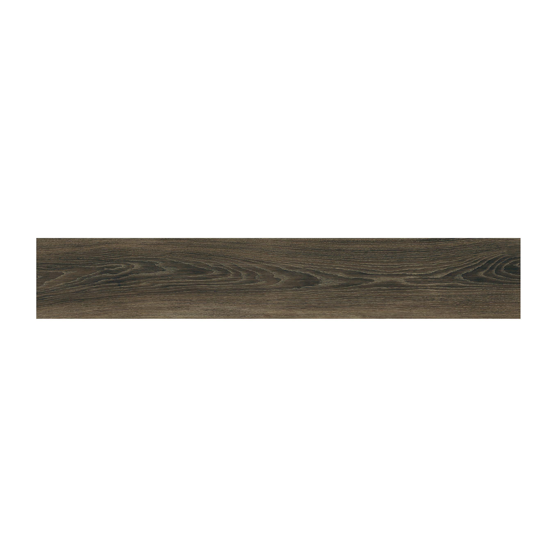 Pavimento Legno Xilo Brown Rettificato 20x120x0,9 Cm Pei4 R10 Gres Porcellanato