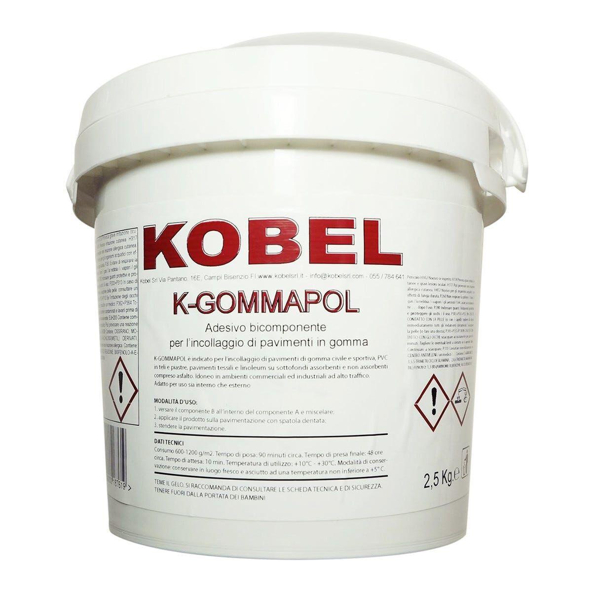 Collante Bicomponente K-Gommapol Kobel Kg 2,5 Gomma Pavimenti Tessili Erba Sintetica
