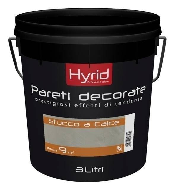 HYRID BY COVEMA Finitura Base Stucco A Calce Hyrid Bianco 3 L All'Acqua 3 M² Con 1 L A 3 Mani
