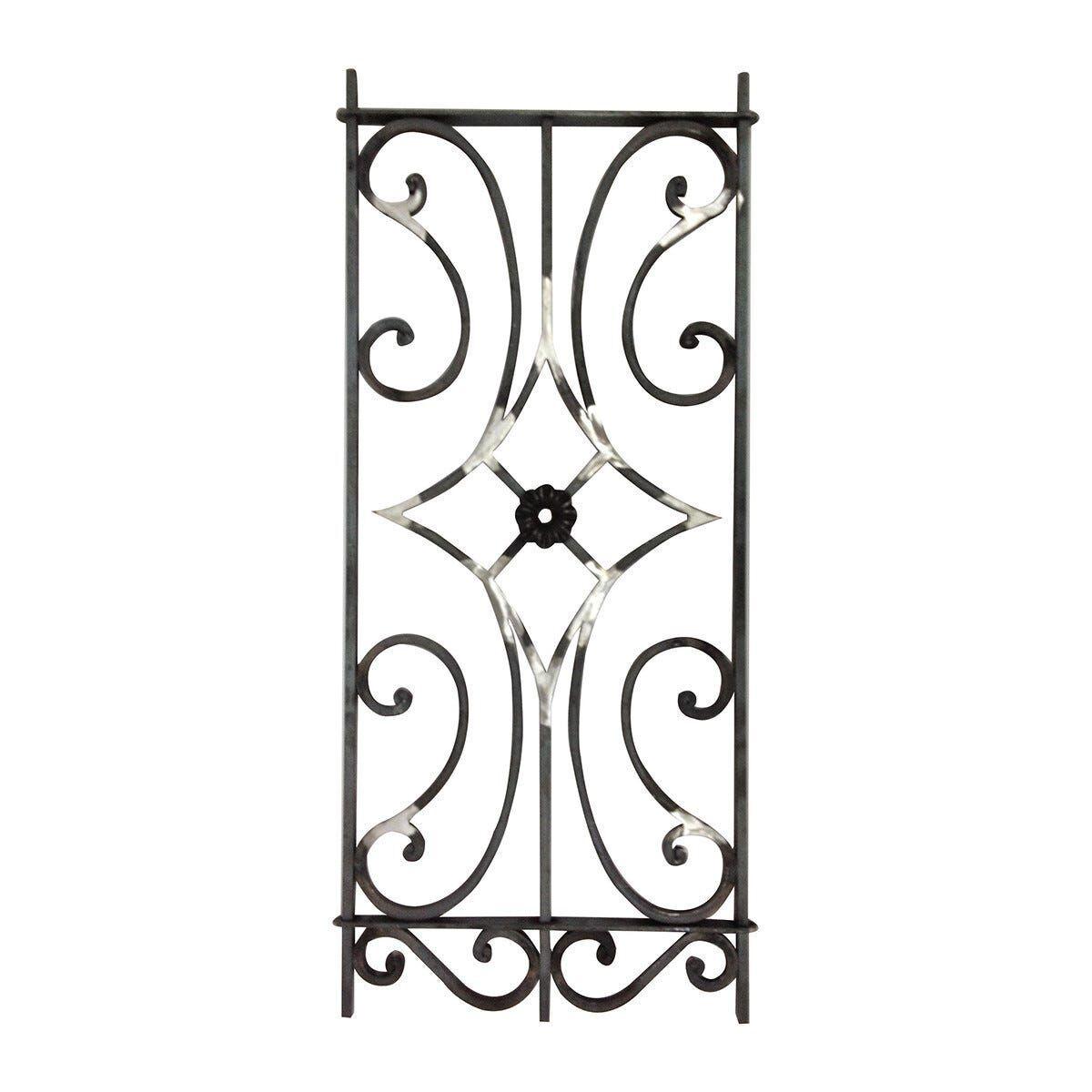 pro_metal_design modulo ferro verticale quadro 12 mm 430x1000 mm per cancelli e recinzioni