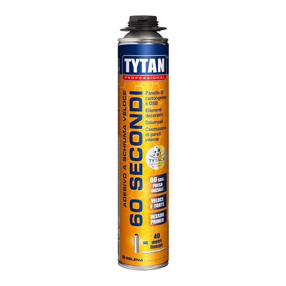 Adesivo A Schiuma Veloce Tytan 750ml 60 Secondi Per Pistola Pannelli Osb E Cartongesso