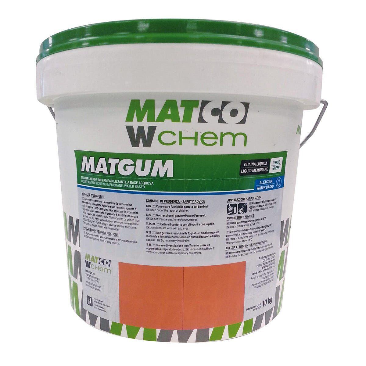 Guaina Liquida Elastomerica Verde 10 Kg Matgum