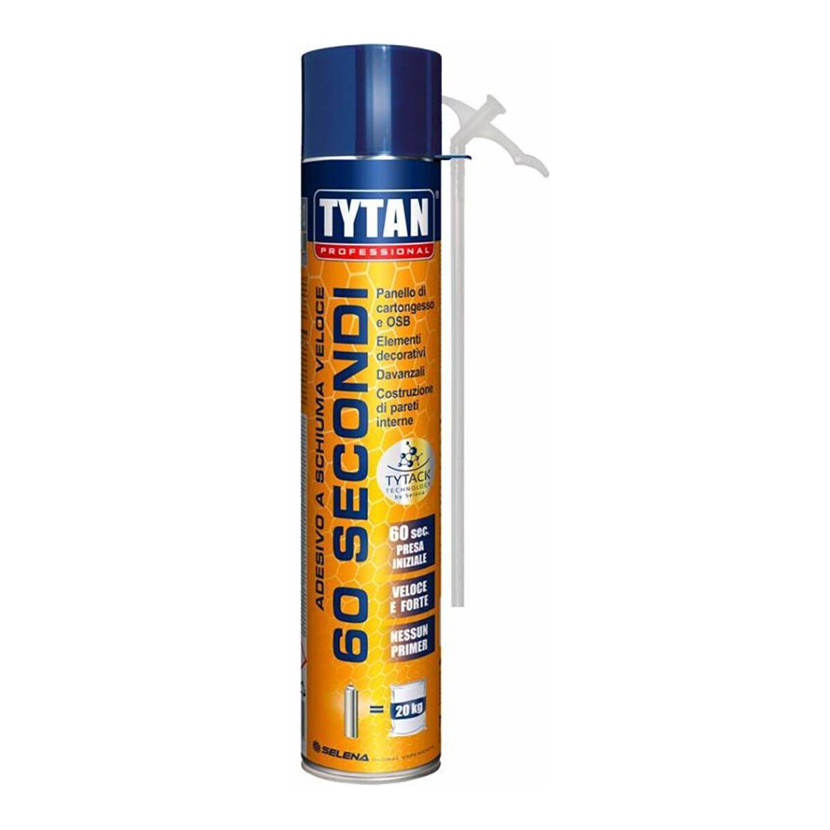 Adesivo A Schiuma Veloce Tytan 750ml 60 Secondi Manuale Per Pannelli Osb E Cartongesso