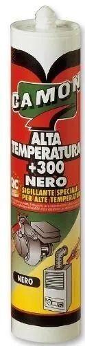 Silicone Termoresistente 280 Ml Nero Alta Temperatura + 300 Cartuccia In Pe + Beccuccio