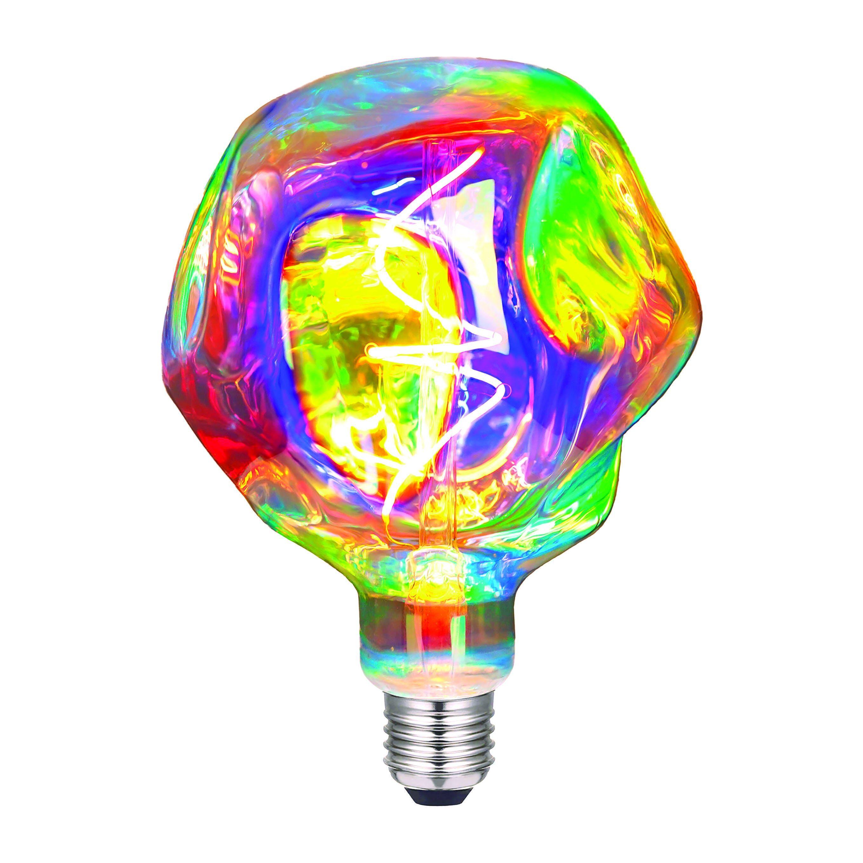 Lampadina Led Suprema Alien E27 4w=22w 210 Lumen 2200k Luce Calda Rainbow