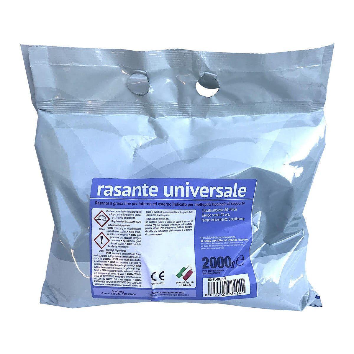 CIPIR Rasante Universale In Polvere 2 Kg Grigio Grana Fine Per Interno Ed Esterno