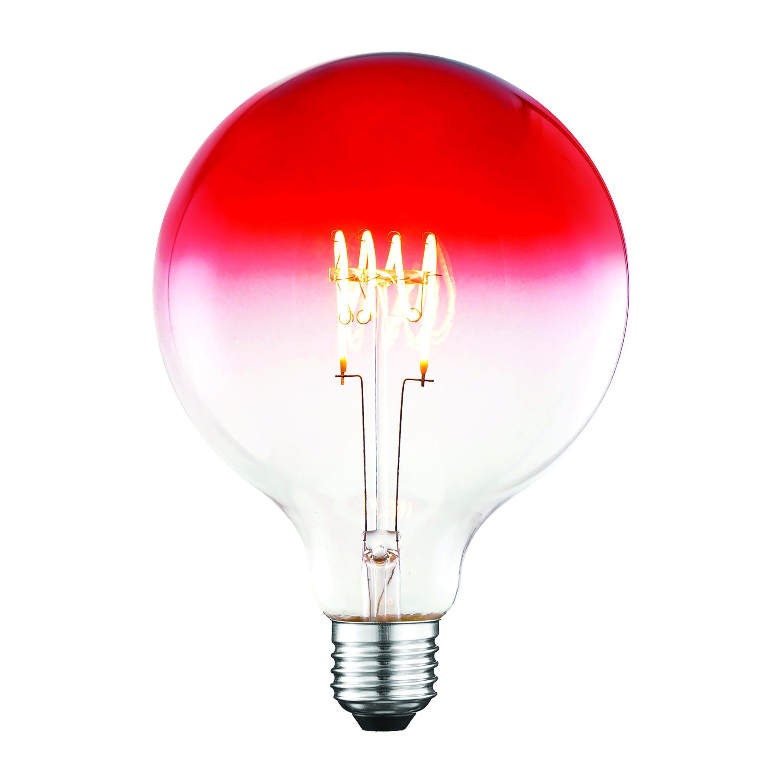 Lampadina Led Suprema Globo E27 4w=14w 120 Lumen 2200k Luce Calda Rosso Degrade'
