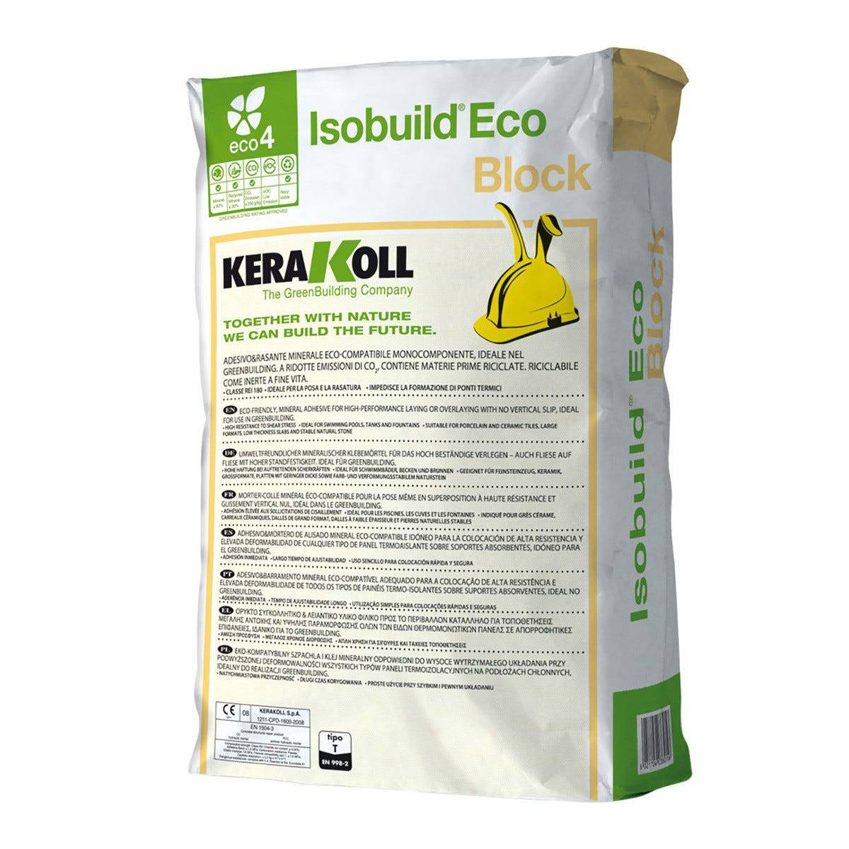 KERAKOLL Malta Rasante Isobuild Block Per Blocchi Ytong Gasbeton Certificata Rei 120 25 Kg