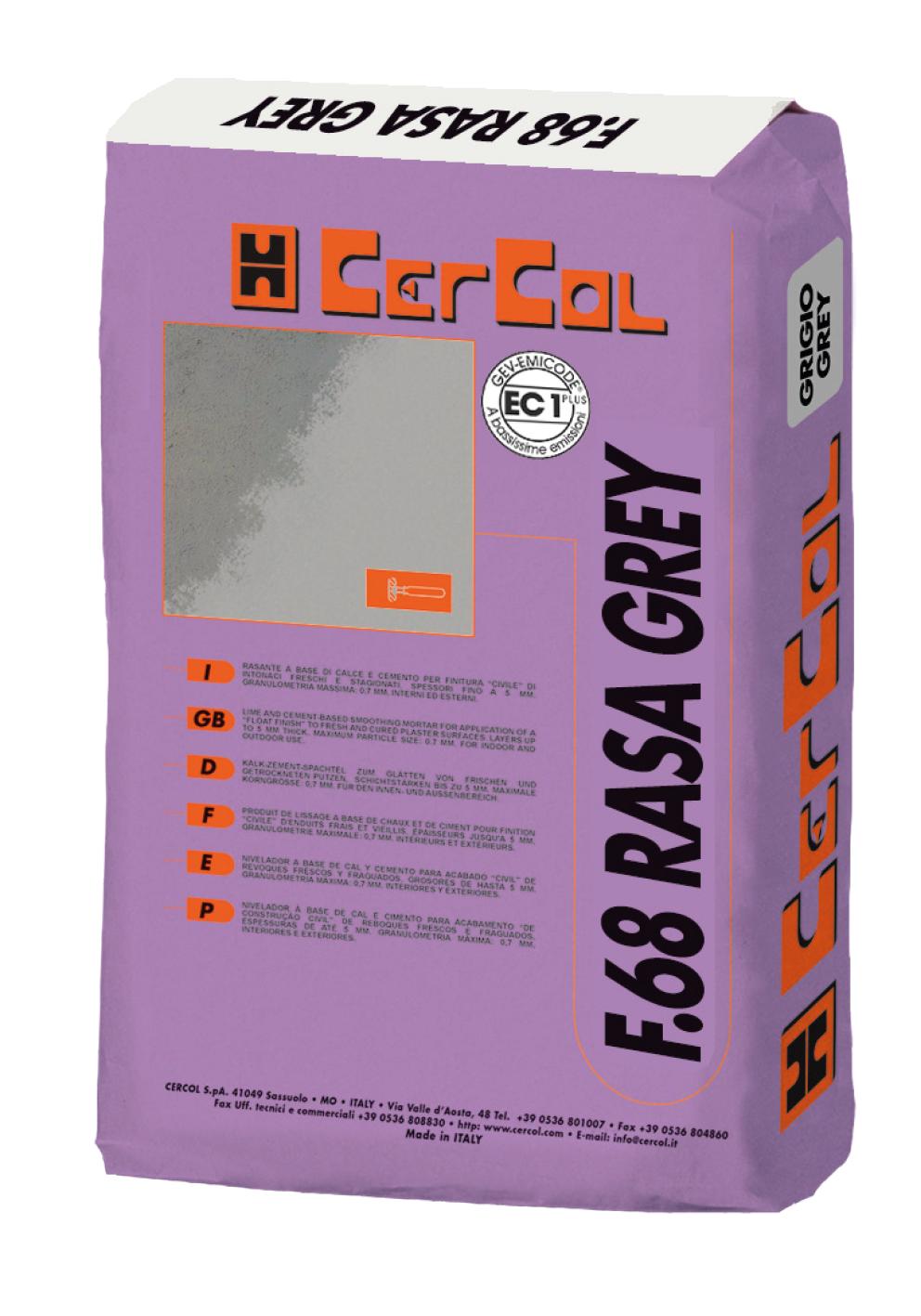 Rasante Grigio F68 Rasa Grey 25 Kg